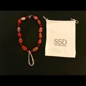 Simon Sebbag Gemstone and Sterling Silver Necklace